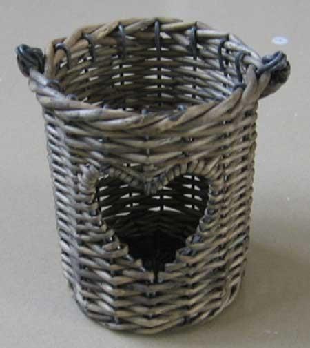 Wicker Garden Basket Willow Flower Pot Vase Rattan Decoration