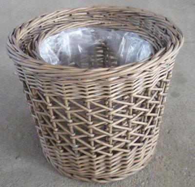 Wicker Garden Basket Willow Flower Pot Vase Rattan