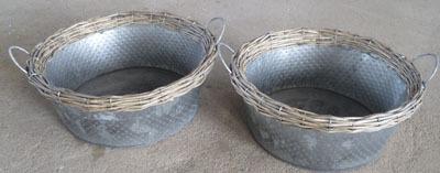 Wicker Garden Basket Willow Flower Pot Vase Seagrass