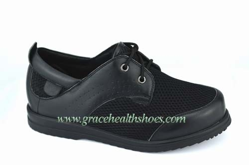 Wide Shoes Come From Nappa Leather And Mesh Fabric
