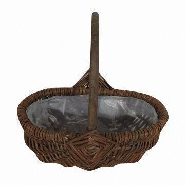 Willow Flower Basket Wicker Garden Planter Pot Decoration