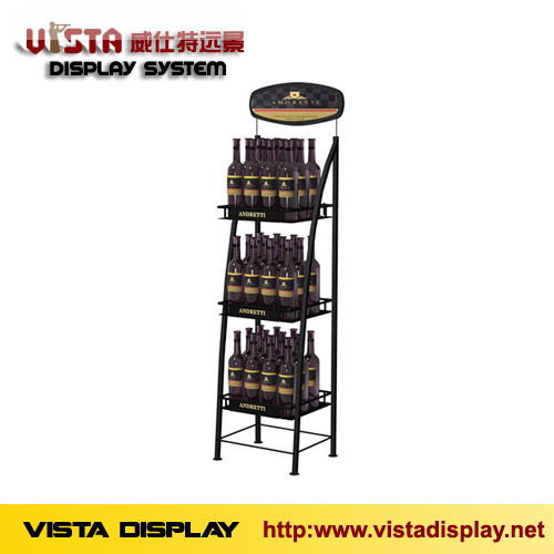 Wine Display Rack Metal Stand