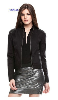 Women S Pieced Moto Jacke