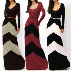 Womens Long Sleeve Floor Length Dresses