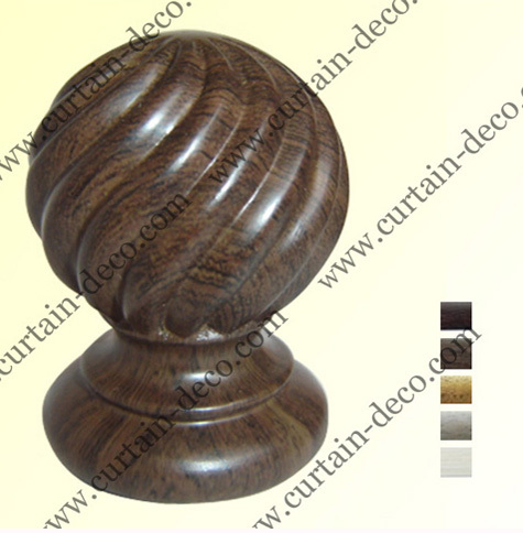 Wood Like Curtain Rod And Finial