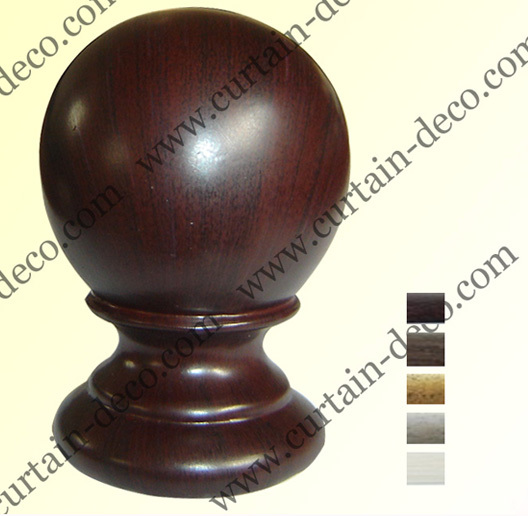 Wooden Curtain Pole Finials