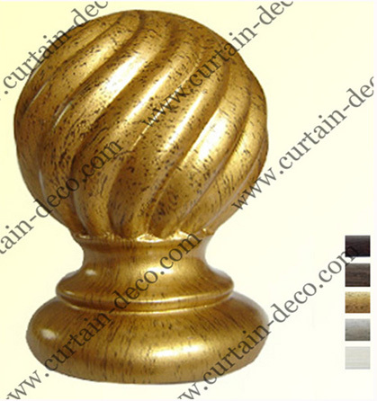 Wooden Curtain Rod And Finial