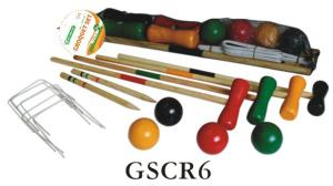 Wooden Game Croquet Set Gscr6