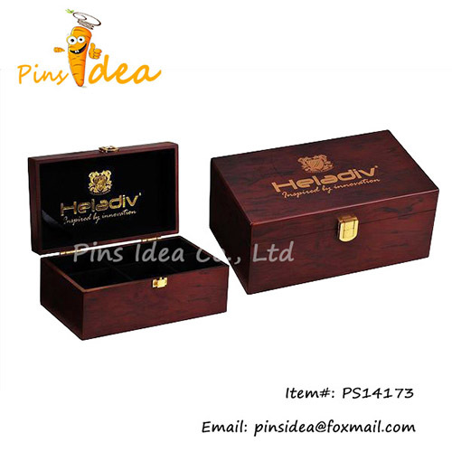 Wooden Gift Box With Gold Foil Stamped Logo