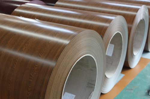 Wooden Grain Prepainted Steel Sheets For Metal Roofing Material