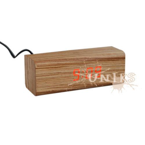 Wooden Led Light Alarm Clock
