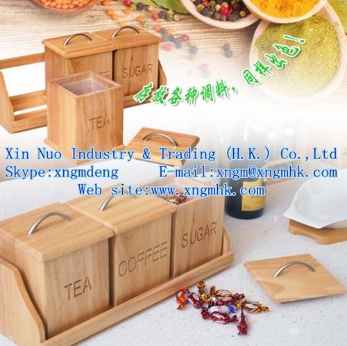 Wooden Spice Rack Jar Kitchenware Cruet Feeding Bottle Cooking