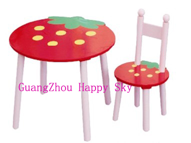 Wooden Strawberry Children Furniture Promotional Toys Educational