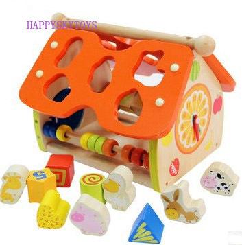 Wooden Toys Doll House Educational Kids Promotional Gfit Developmental Inte