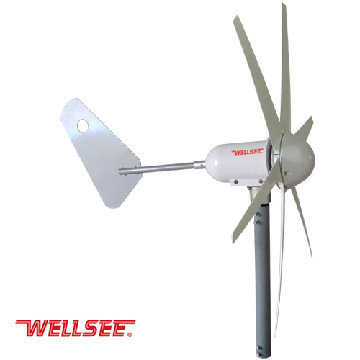 Ws Wt 300w Wellsee Wind Turbine Six Bladed Leaves A Horizontal Axis