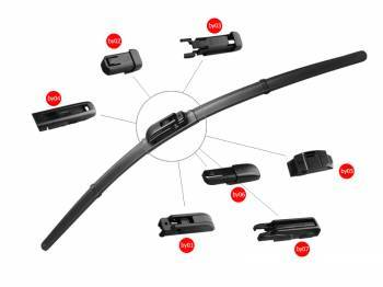 Xiamen Factory Of Car Accessories Curve Windshield Wiper With 7 Adaptors
