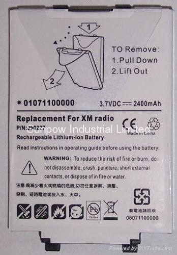 Xm Radio Battery For Delphi Txm1000 Xmtsz03089 00