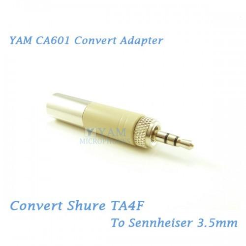 Yam Ca601 Convert Shure Ta4f To Sennheiser 3 5mmf Wireless Bodypack Transmi