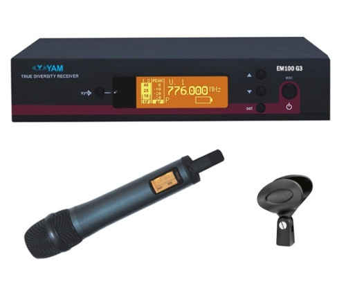 Yam Em100 G3 Wireless Microphone Uhf System For Stage