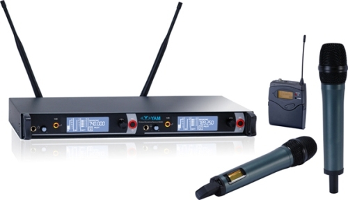 Yam Em2000 Dual Channels Wireless Microphone Uhf System