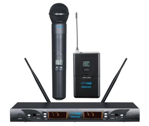 Yam Wm4000 Dual Channels Wireless Microphone Uhf System