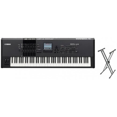 Yamaha Motif Xf8 88 Key Keyboard Synth Package With Free Stand