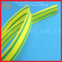 Yellow And Green Striped Heat Shrink Tubing