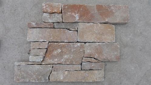 Yellow Quartzite Beck Mesh Stone Panel Zfw014f