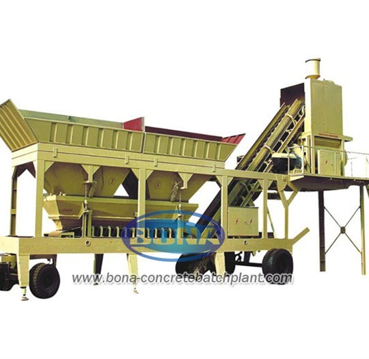 Yhzs25concrete Mixing Mobile Plant