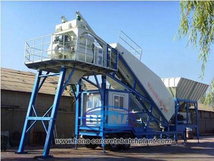 Yhzs50 Mobile Concrete Batching Plant