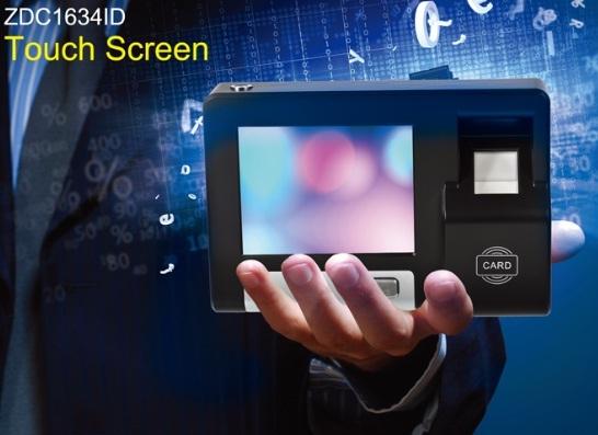 Zdc1634id Time Attendance Terminal Fingerprint Touch Screen