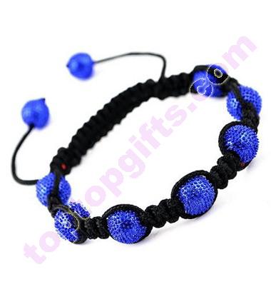 Zinc Alloy Disco Shamballa Bracelet