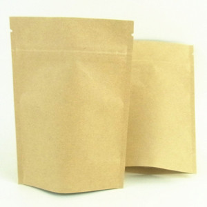 Zip Top Kraft Paper Stand Up Pouches